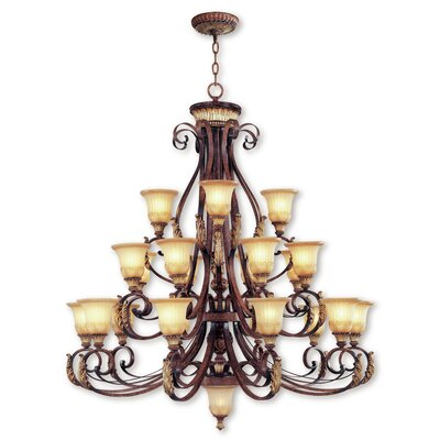 Scottdale 3-Light Shaded Chandelier