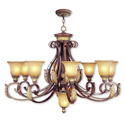 Scottdale 9-Light Shaded Chandelier