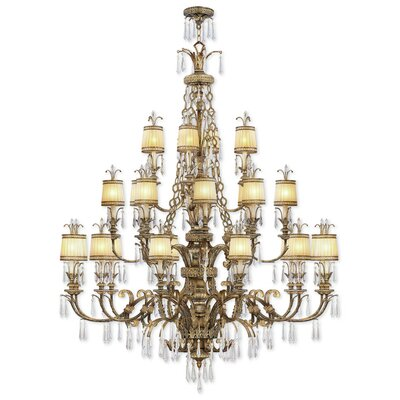 Perot 24-Light Shaded Chandelier