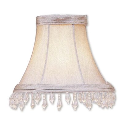6 Silk Bell Beaded Candelabra Shade
