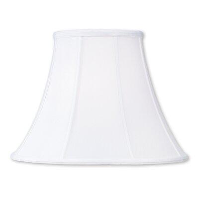 Modern 14 Silk Bell Lamp Shade with Coated Frame Color: White