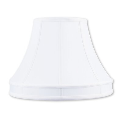 Modern 16 Silk Bell Lamp Shade with Coated Frame Color: White