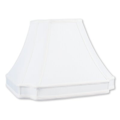 16 Silk Bell Lamp Shade with Coated Frame Color: White
