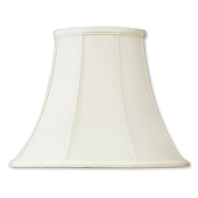 16 Silk/Shantung Bell Lamp Shade Color: Off White