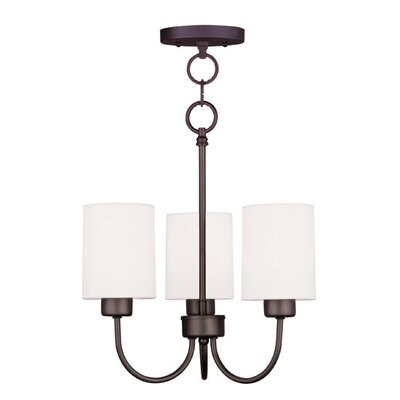 Sussex Convertible 3-Light Shaded Chandelier Finish: Brushed Nickel