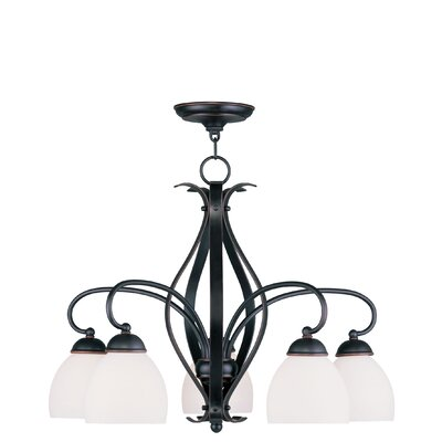 Whittaker 5-Light Shaded Chandelier Finish: Olde Bronze