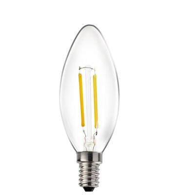 E12/Candelabra LED Light Bulb (Set of 10) Wattage: 2W, Bulb Temperature: 3000K