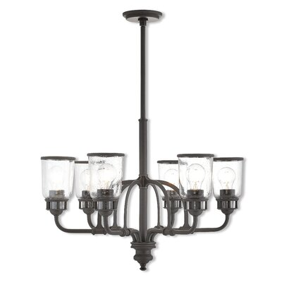 Laurenza Traditional 6-Light Candle-Style Chandelier Finish: Bronze