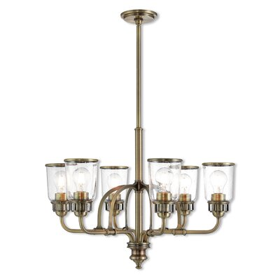 Laurenza Traditional 6-Light Candle-Style Chandelier Finish: Antique Brass