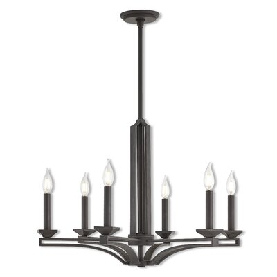 Dedham 6-Light Candle-Style Chandelier Finish: Bronze