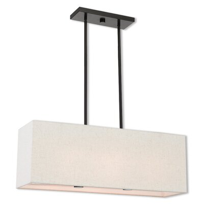 Briceno Linear 2-Light Kitchen Island Pendant with Diffuser Size: 47.5 H x 28 W x 8 D