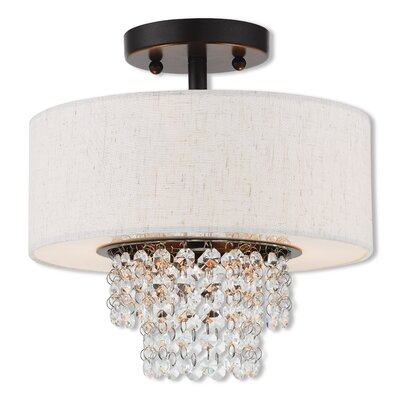 Dor Semi Flush Mount Size: 10.7 H x 11 W