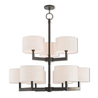 Mai 9-Light Drum Chandelier Finish: Bronze