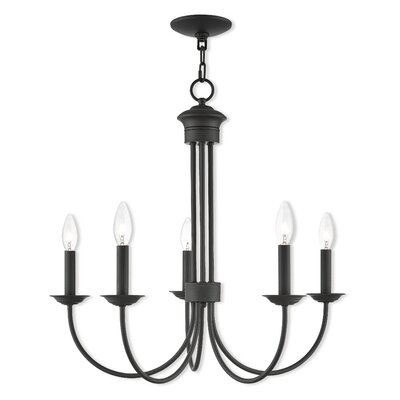 Croydon 5-Light Candle-Style Chandelier Finish: Bronze