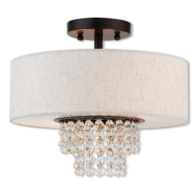 Dor Semi Flush Mount Size: 10.7 H x 13 W