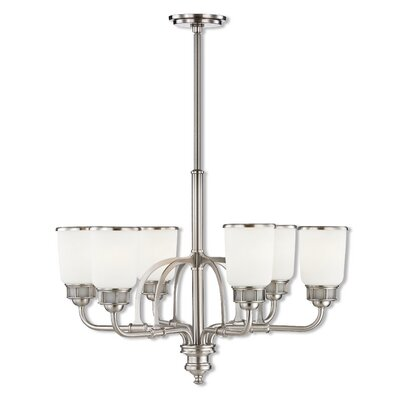 Laurenza 6-Light Candle-Style Chandelier Finish: Brushed Nickel