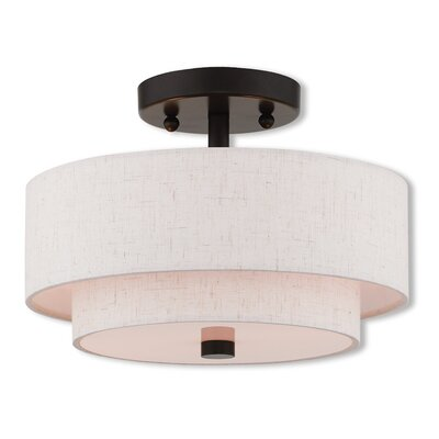 Dundee Semi Flush Mount Size: 8.13 H x 11 W