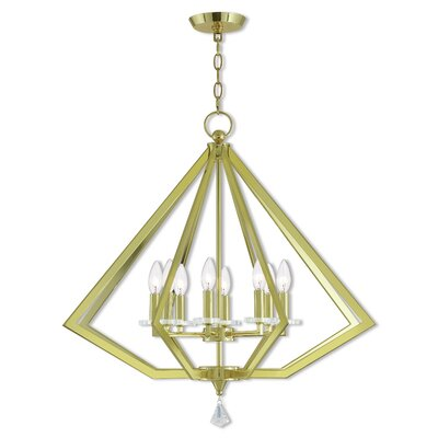 Washington 8-Light Foyer Pendant Finish: Polished Brass