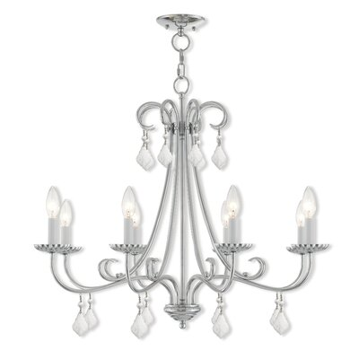 Devan 8-Light Candle-Style Chandelier Finish: Polished Chrome