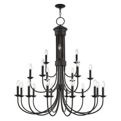 Lakemoor 22-Light Candle-Style Chandelier Finish: Bronze