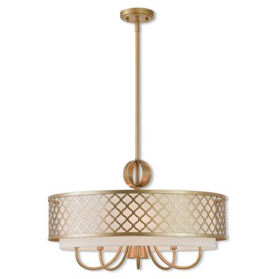 Tymvou 5-Light Drum Chandelier Color: Soft Gold