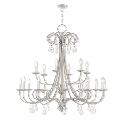 Devan 18-Light Candle-Style Chandelier Finish: Polished Chrome