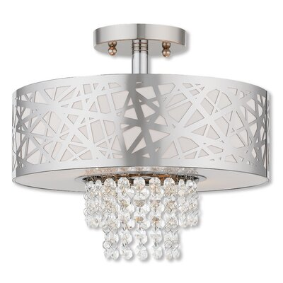 Bottorff 2-Light Semi Flush Mount Finish: Polished Chrome