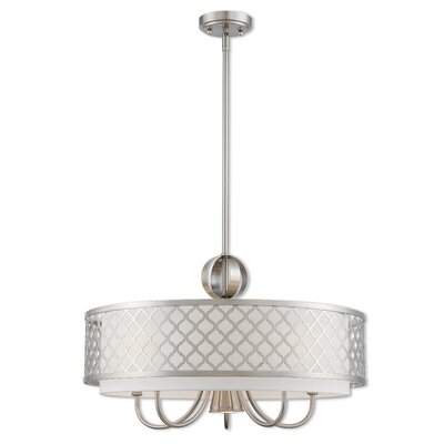 Tymvou 5-Light Drum Chandelier Finish: Brushed Nickel