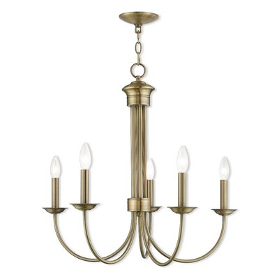 Croydon 5-Light Candle-Style Chandelier Finish: Antique Brass