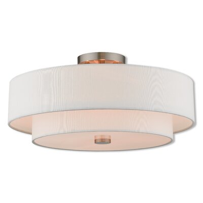 Dundee Transitional Semi Flush Mount