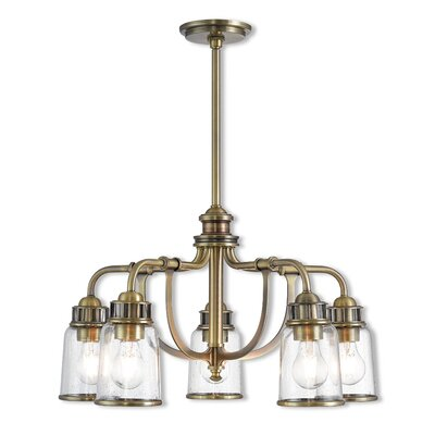 Laurenza Dinette 5-Light Candle-Style Chandelier Finish: Antique Brass