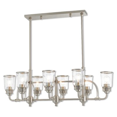Laurenza Linear 8-Light Kitchen Island Pendant Finish: Brushed Nickel