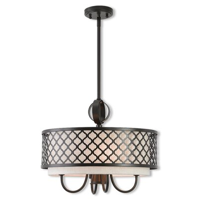 Tymvou 4-Light Drum Pendant Finish: English Bronze