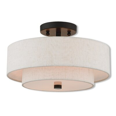 Dundee Semi Flush Mount Size: 8 H x 13 W