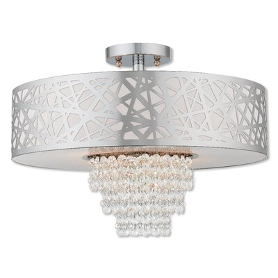 Bottorff 4-Light Semi Flush Mount Finish: Polished Chrome