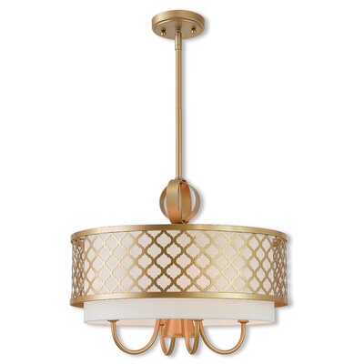 Tymvou 4-Light Drum Pendant Color: Soft Gold