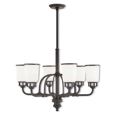 Laurenza 6-Light Candle-Style Chandelier Finish: Bronze