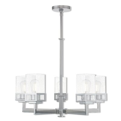 Nailwell 5-Light Candle-Style Chandelier Finish: Polished Chrome