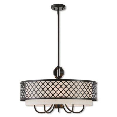 Tymvou 5-Light Drum Chandelier Finish: English Bronze