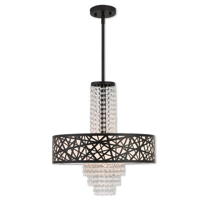 Bottorff Bird Nest 4-Light Crystal Pendant Size: 57.75 H x 18 W