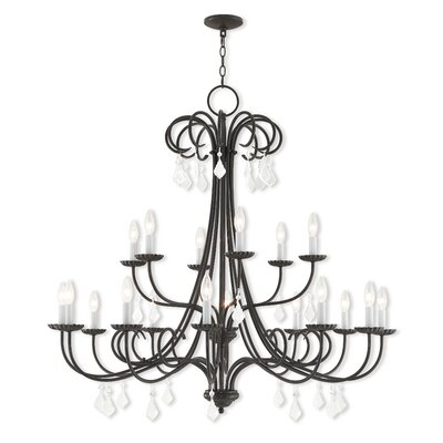 Devan 18-Light Candle-Style Chandelier Finish: English Bronze