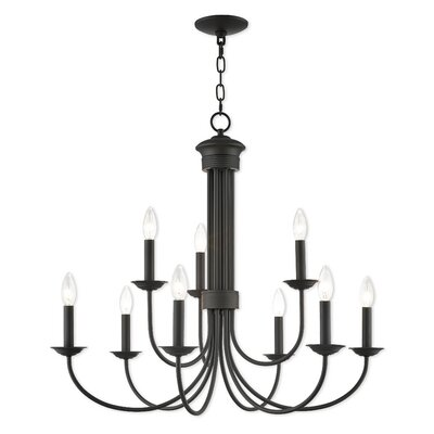 Lakemoor 9-Light Candle-Style Chandelier Finish: Bronze