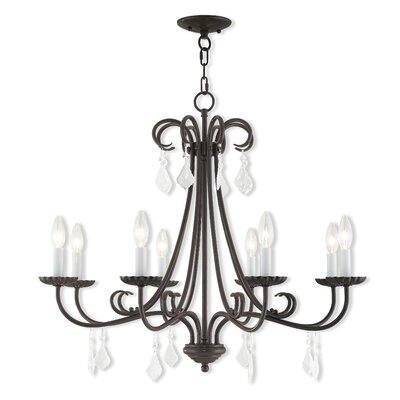 Devan 8-Light Candle-Style Chandelier Finish: English Bronze