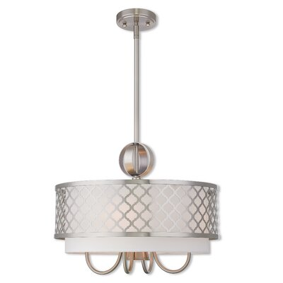 Tymvou 4-Light Drum Pendant Finish: Brushed Nickel