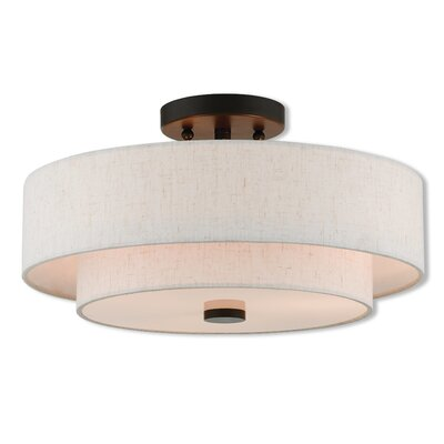 Dundee Semi Flush Mount Size: 8 H x 15 W