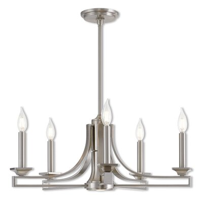 Dedham 5-Light Candle-Style Chandelier Finish: Brushed Nickel