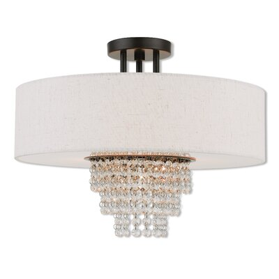 Dor Semi Flush Mount Size: 14.5 H x 18 W