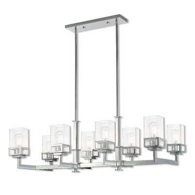 Nailwell Linear 8-Light Kitchen Island Pendant Finish: Polished Chrome
