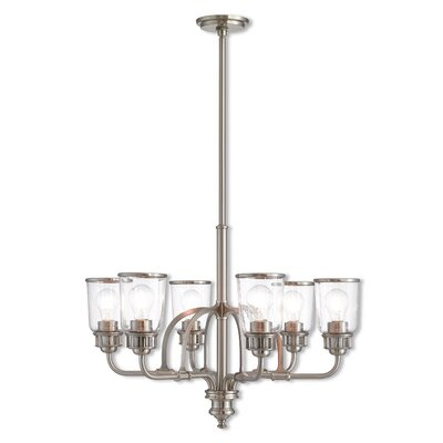 Laurenza Traditional 6-Light Candle-Style Chandelier Finish: Brushed Nickel