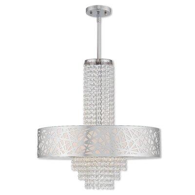 Bottorff 4-Light Crystal Pendant Size: 61.25 H x 22 W